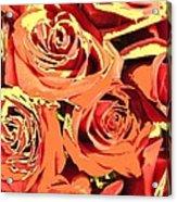 Autumn Roses On Your Wall Acrylic Print