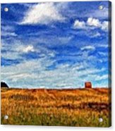 Autumn Sky Impasto Acrylic Print