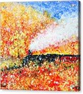 Autumn Snow Acrylic Print