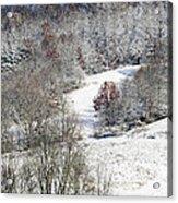 Autumn Snow West Virginia Acrylic Print