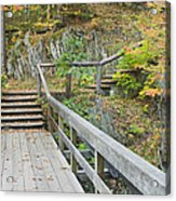 Autumn Steps Near Smalls Falls In Maine Acrylic Print