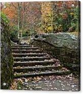Autumn Stone Staircase Acrylic Print