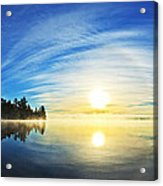 Autumn Sunrise At Meddybemps Acrylic Print by ABeautifulSky Photography