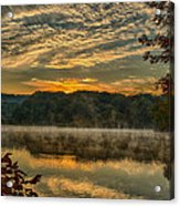 Autumn Sunrise At The Lake Acrylic Print