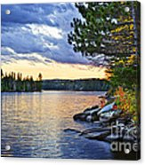 Autumn Sunset At Lake Acrylic Print