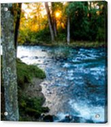 Autumn Sunset On Crabtree Creek Acrylic Print