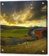 Autumn Sunset Over Meech Creek And Acrylic Print
