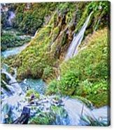 Autumn Valley Waterfalls Acrylic Print