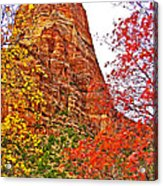 Autumn View Along Zion Canyon Scenic Drive In Zion National Park-utah Acrylic Print