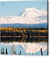 Autumn View Of Mt. Drum - Alaska Acrylic Print