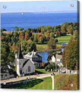 Autumn View On Mackinac Island Acrylic Print