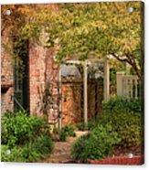 Autumn Walk In Pinehurst Acrylic Print