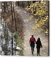 Autumn Walk On The C And O Canal Towpath Acrylic Print