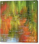 Autumn Water Colors Acrylic Print