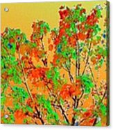 Autumn Watercolor Painting Acrylic Print