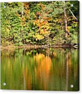 Autumn Watercolor Reflections Acrylic Print