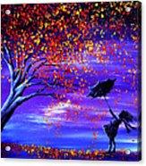 Autumn Wind Acrylic Print by Ann Marie Bone