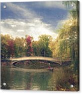 Autumn's Afternoon In Central Park Acrylic Print