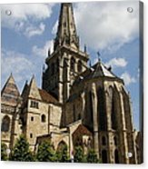 Autun Cathedral View Burgundy Acrylic Print