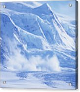 Avalanche At A Distance Acrylic Print