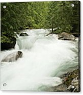 Avalanche Creek In Spring Run Off Acrylic Print