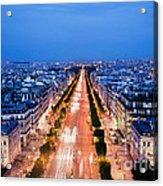 Avenue Des Champs Elysees In Paris Acrylic Print