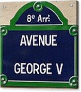 Avenue George Le Cinq  Acrylic Print
