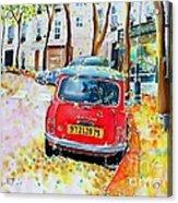 Avenue Junot In Autumn Acrylic Print