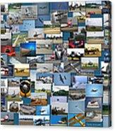 Aviation Collage Acrylic Print