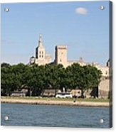 Avigon View From River Rhone Acrylic Print