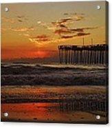 Avon Pier Hatteras Sunrise 1 1/15 Acrylic Print