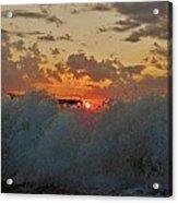 Avon Pier Splash Sunrise 7/26 Acrylic Print
