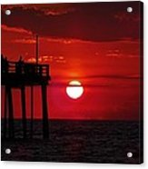 Avon Pier Sunrise 1 7/26 Acrylic Print