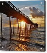 Avon Pier Sunrise 5 8/06 Acrylic Print