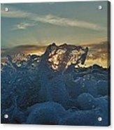 Avon Pier Sunrise Wave Splash 9/08 Acrylic Print