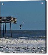 Avon Pier Surfers Leap 3 1/19 Acrylic Print