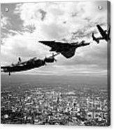 Avro Birds - Mono  Acrylic Print