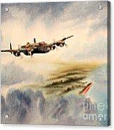 Avro Lancaster Over England Acrylic Print