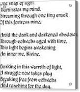 Awakening Divine Self Worth Sketch Of Jesus Acrylic Print