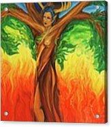 Awakening The Chakra Tree Acrylic Print