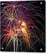 Awesome Fireworks Acrylic Print by Garry Gay