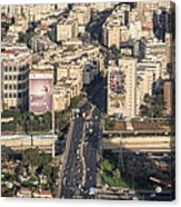 Ayalon Freeway And The Halacha Bridge Acrylic Print