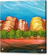 Ayers Rock End Acrylic Print