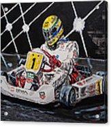 Ayrton Senna Karting Acrylic Print