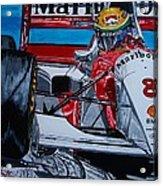 Ayrton Senna Monaco 93 Acrylic Print