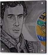 Ayrton Senna Portrait Acrylic Print