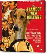 Azawakh Art - The Flame Of New Orleans Movie Poster Acrylic Print
