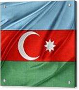 Azerbaijan Flag Acrylic Print by Les Cunliffe
