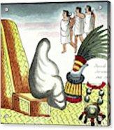 Aztec Burial Ritual Acrylic Print