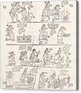 Aztec Customs Acrylic Print